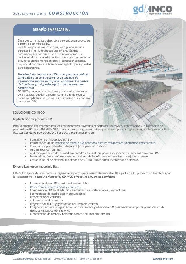 Servicios de gd inco para empresas constructoras for Empresas constructoras