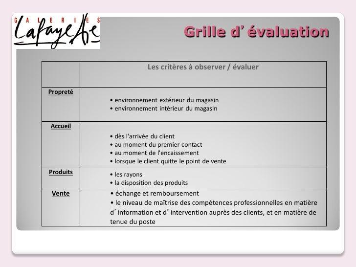 Client mystere - Grille d evaluation des competences professionnelles ...