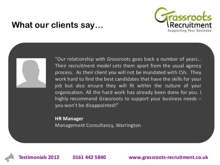 Client Testimonials 2012