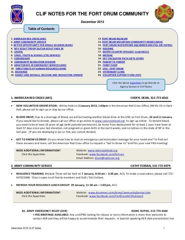 Community Leaders Information Forum: Dec 2012 Notes