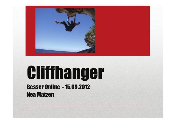 CliffhangerBesser Online - 15.09.2012Nea Matzen