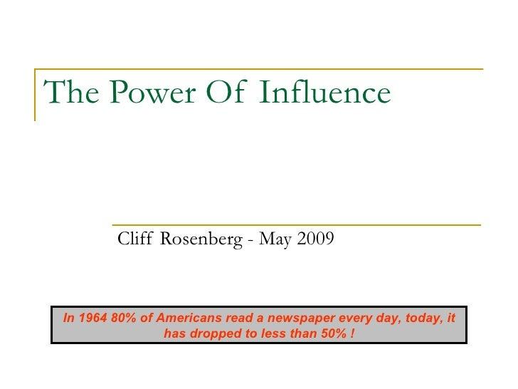Cliff Rosenberg - POI Presentation   May09