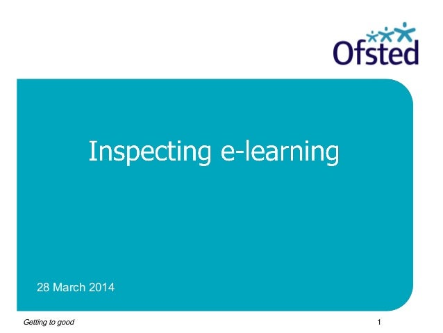 Cliff Rose - Inspecting e-learning