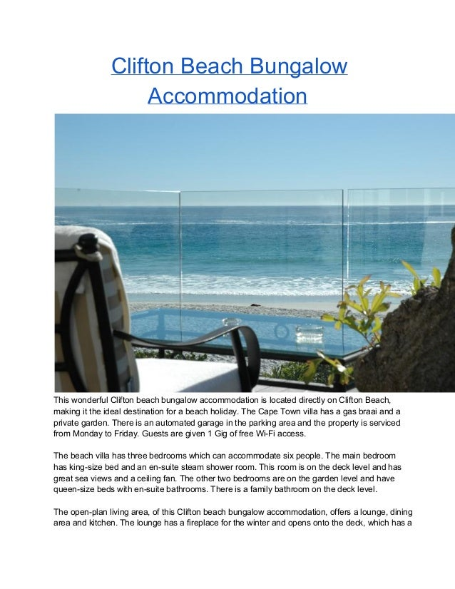 Clifton Beach Bungalow Accommodation Cape Town