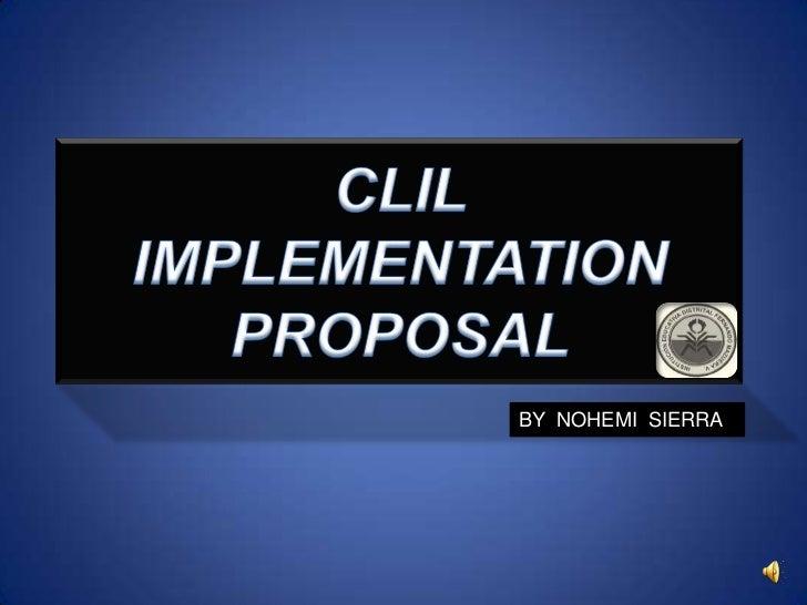 Clil implementation proposal