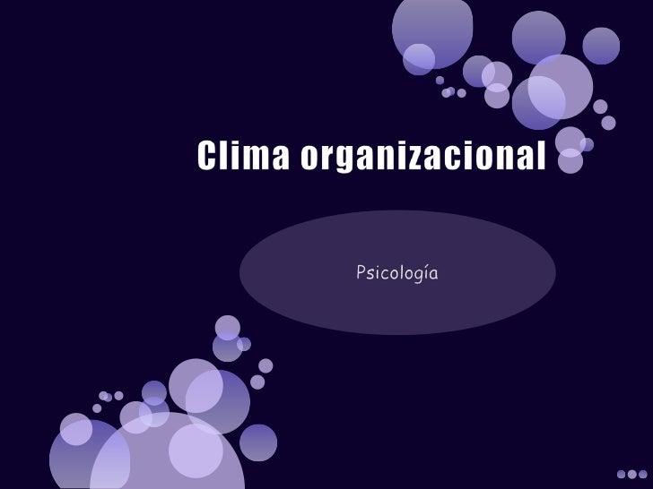 Clima organizacional. simó y martino.