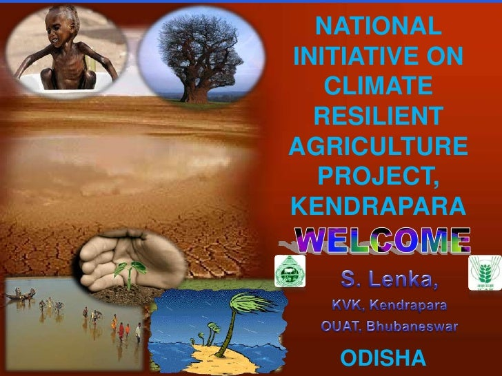 NATIONAL INITIATIVE ON CLIMATE RESILIENT <br />AGRICULTURE PROJECT, KENDRAPARA<br />WELCOME<br />S. Lenka,<br />KVK, Kendr...
