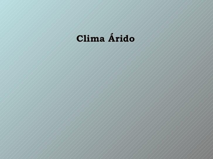 Clima áRido