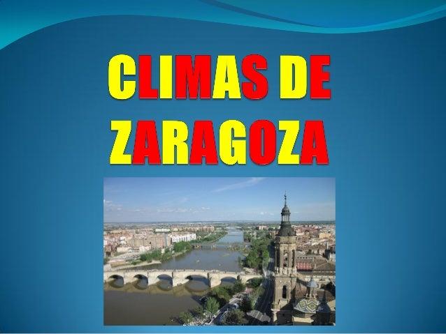 El clima de Zaragoza