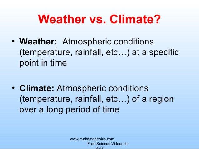 Climate factors definition for Versus definition