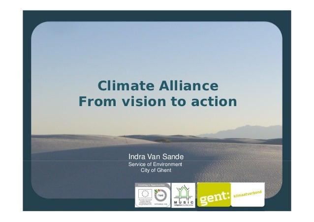 Climate alliance ghent indra van sande
