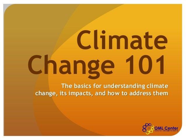OML Center: Climate Change 101