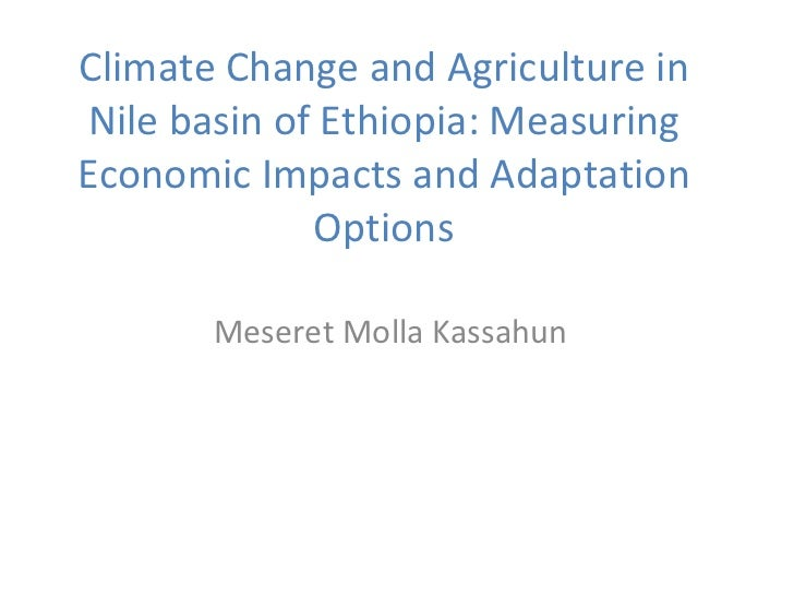 Climate Change and Agriculture in Nile basin of Ethiopia: Measuring Economic Impacts and Adaptation Options Meseret Molla ...
