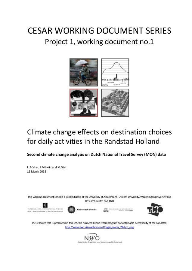 Climate change and destination choices