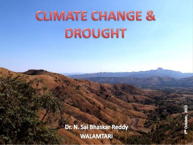 Climate change and drought