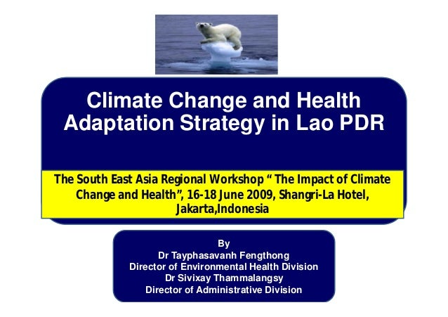Climate Change and Health Adaptation Strategy in Lao PDR