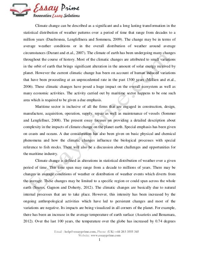 essay on global warming sample essay on global warming