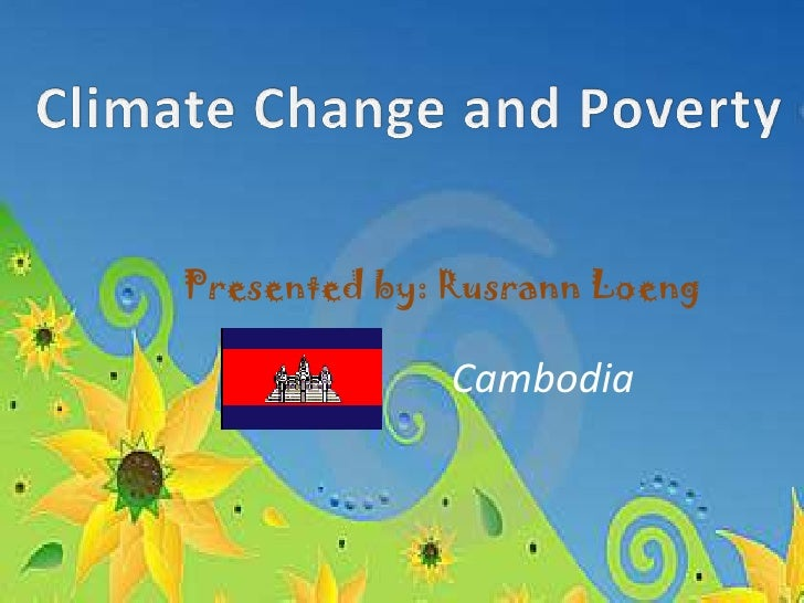 Climate change and poverty presentation
