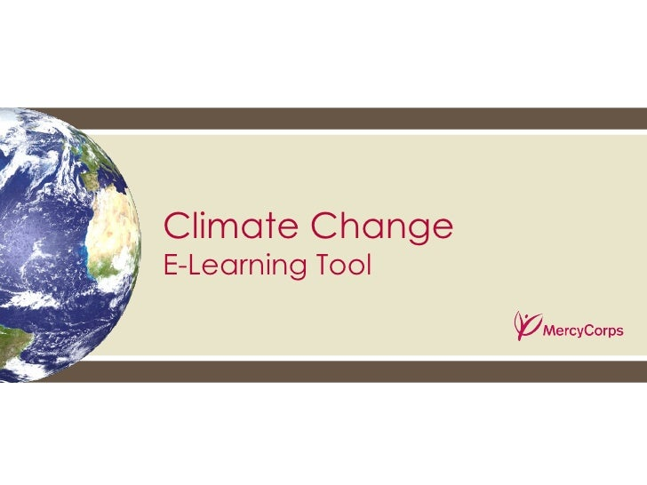 Climate change e-learning tool - from Mercy Corps