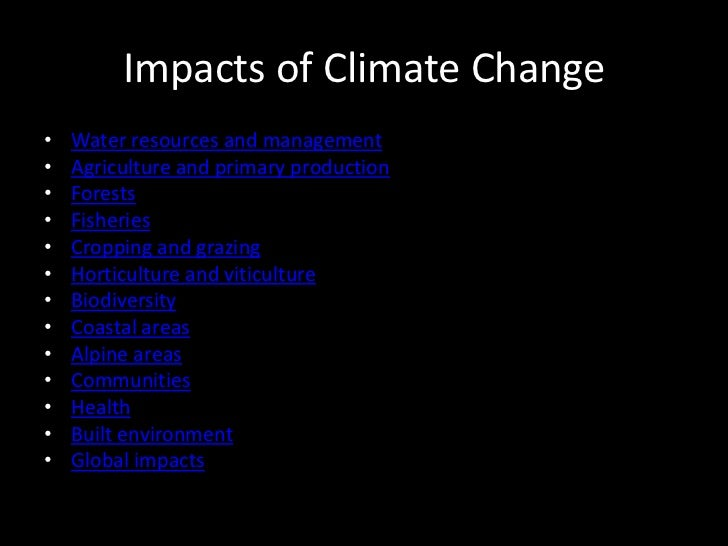 Carbonic >> Effects of Climate change and Mitigation Policies