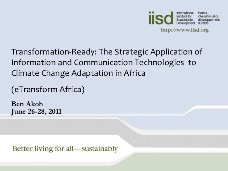 eTransform Africa: ICTs and Climate Change