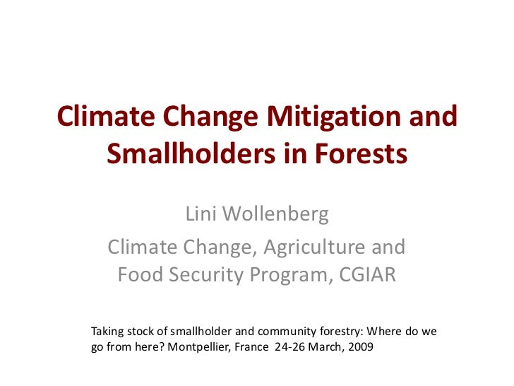 Climate Change Mitigation and Smallholders in Forests<br />LiniWollenberg<br />Climate Change, Agriculture and Food Securi...