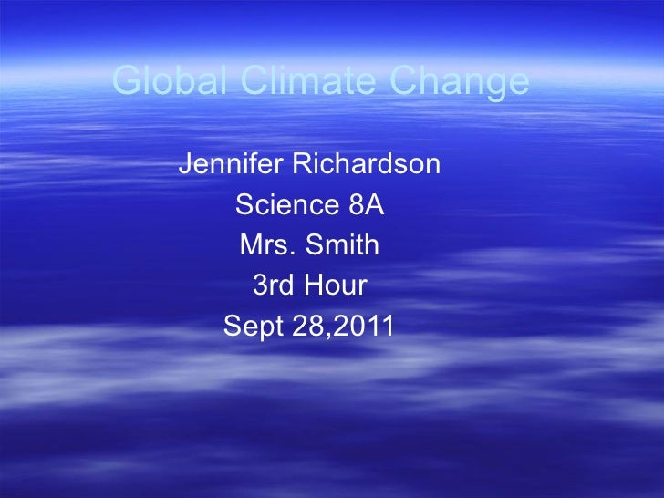Climate changeoutline