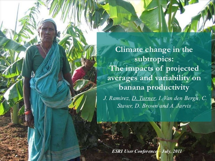 Climate change in the subtropics: The impacts of projected averages and variability on banana productivity   J. Ramirez,  ...