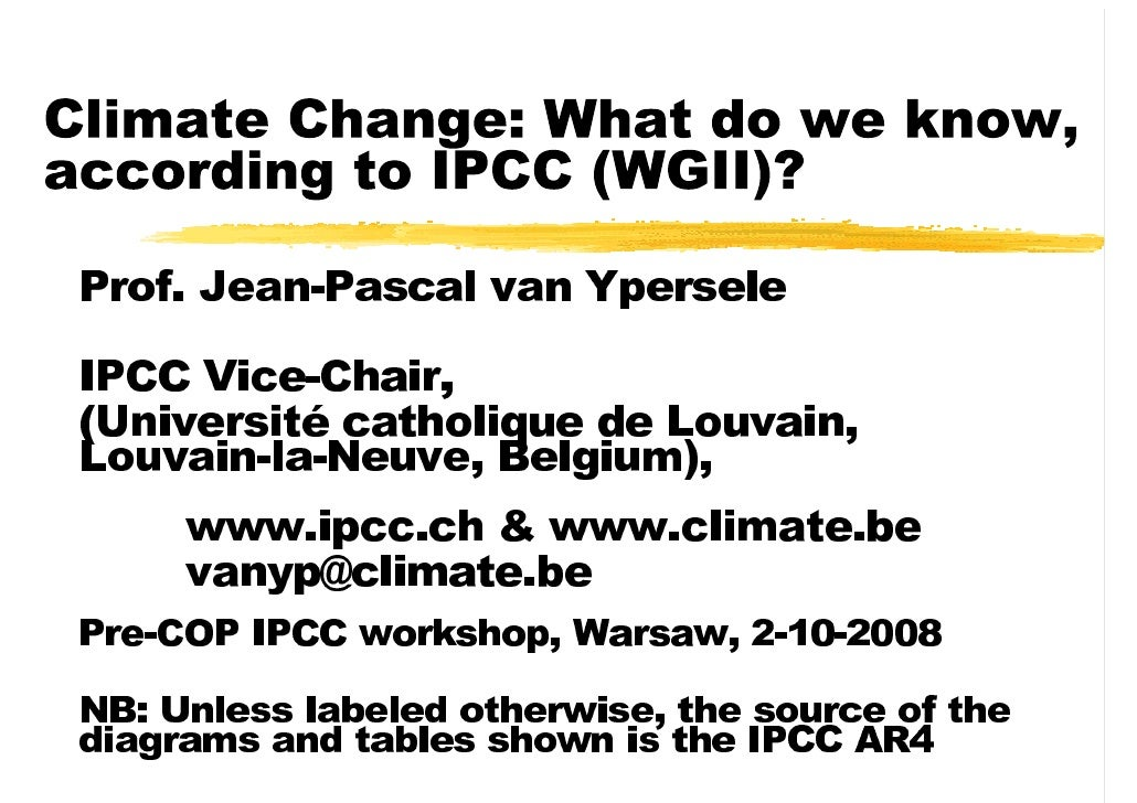 Climate change what do we know