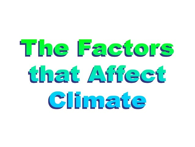 Climate interactions