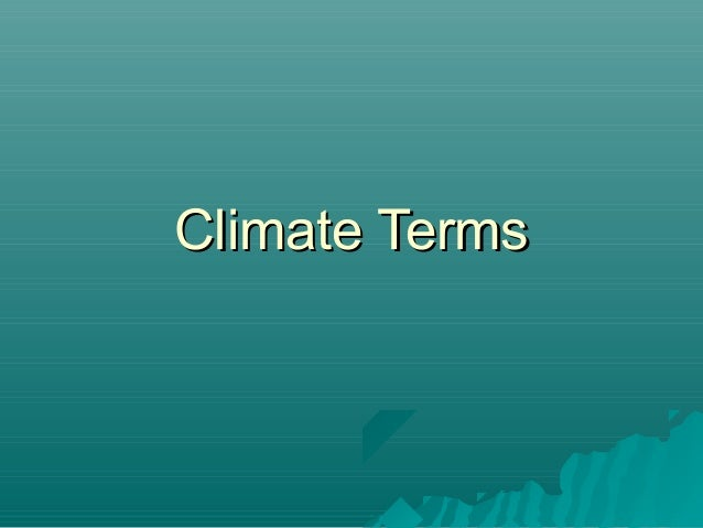 Climate (terms)