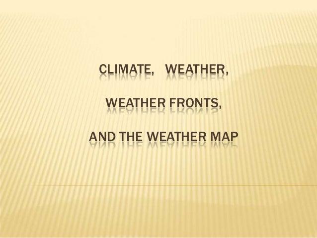 Understanding the Weather Map