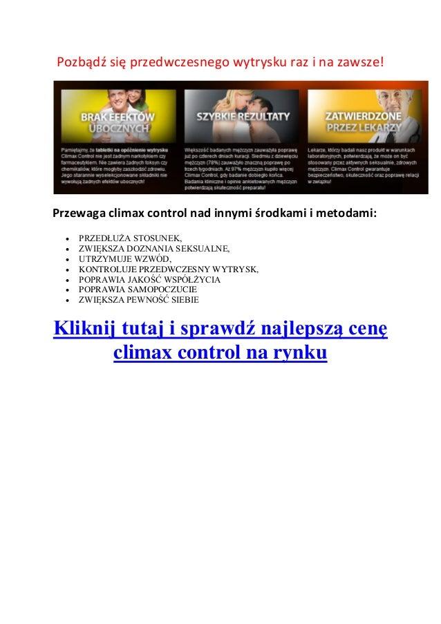 Climax control forum