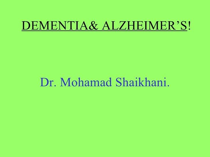 Clin Neuro Dementia Alz Lec.