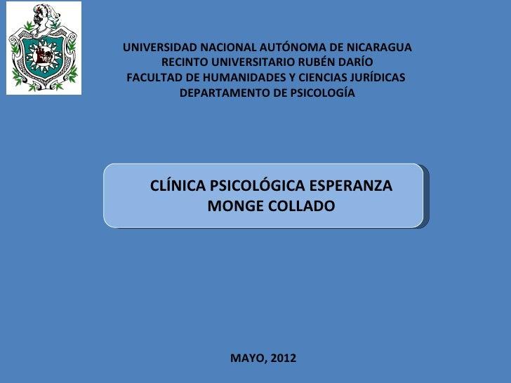 UNIVERSIDAD NACIONAL AUTÓNOMA DE NICARAGUA      RECINTO UNIVERSITARIO RUBÉN DARÍOFACULTAD DE HUMANIDADES Y CIENCIAS JURÍDI...