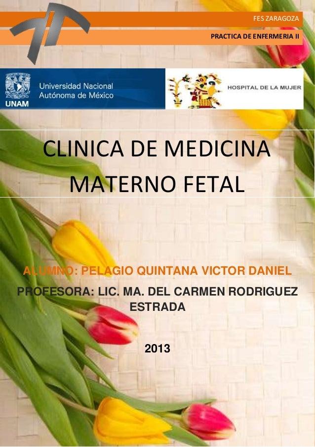 Clinica de medicina materno fetal