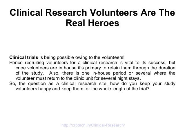 NIH Clinical Center: Program for Healthy Volunteers