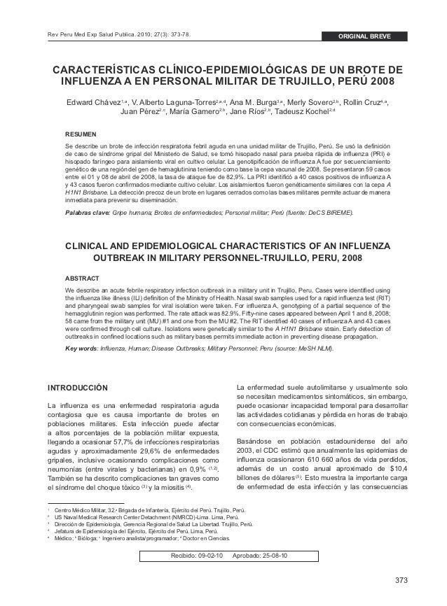 the clinical features of influenza You have full text access to this open access content clinical features of the hospitalized patients with 2009 pandemic influenza a (h1n1) in santa fe, argentina.