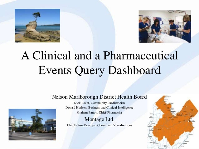 Nic k Baker  1  A Clinical and a Pharmaceutical Events Query Dashboard Nelson Marlborough District Health Board Nick Baker...
