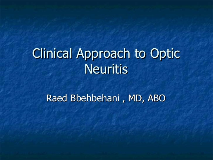 unilateral optic neuritis as a presentation It is typically characterized by longitudinally extensive transverse myelitis (letm, myelitis which is 3 vertebral segments in length or greater), which can leave one quite debilitated at presentation, and unilateral or bilateral optic neuritis.