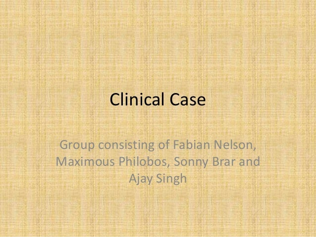 Clinical Case Group consisting of Fabian Nelson, Maximous Philobos, Sonny Brar and Ajay Singh