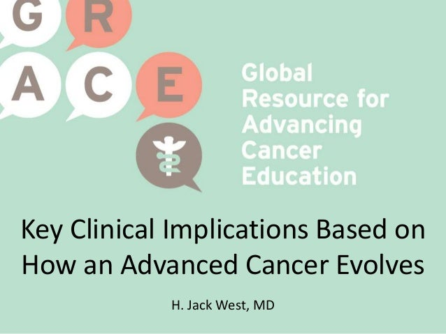 Key Clinical Implications Based on How an Advanced Cancer Evolves H. Jack West, MD