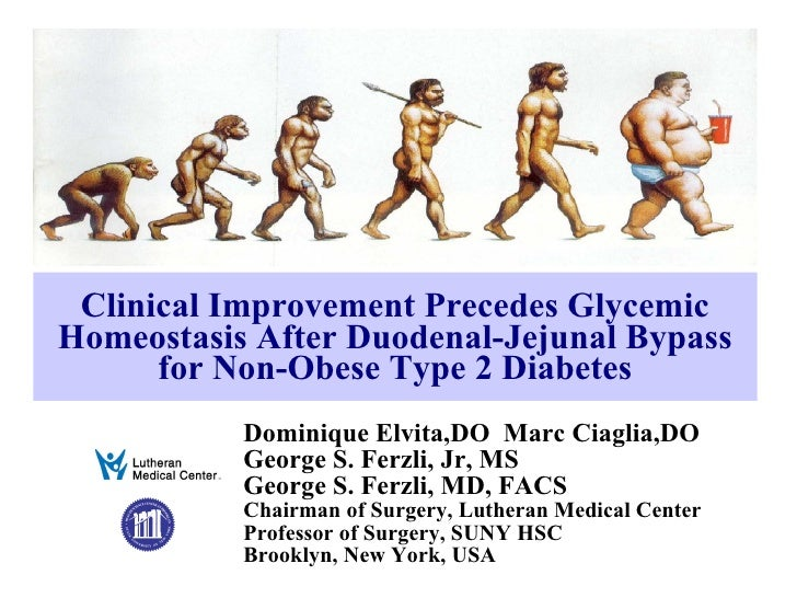 Clinical Improvement Precedes Glycemic Homeostasis After Duodenal-Jejunal Bypass for Non-Obese Type 2 Diabetes Dominique E...