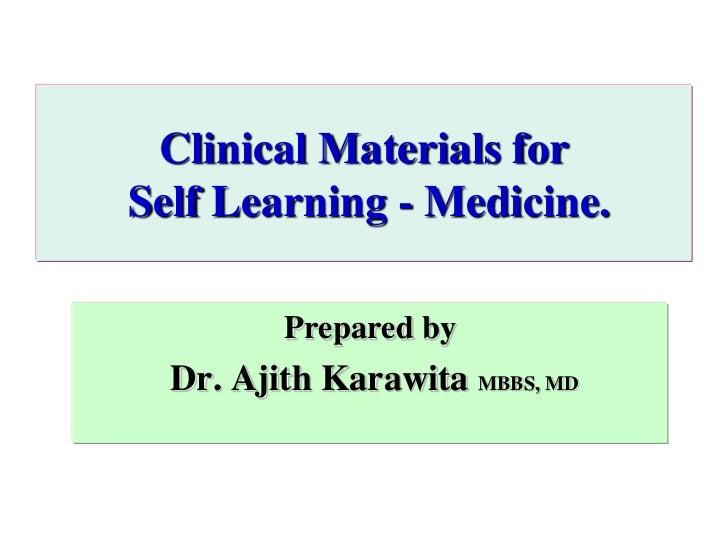 Clinical materials for medicine II