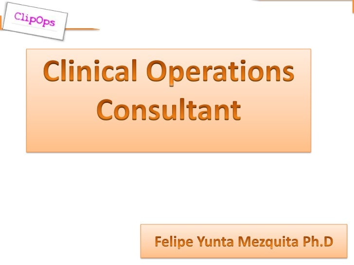 Clinical operations consultant