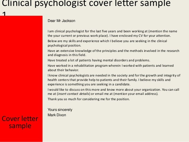 psychology cover letter examples
