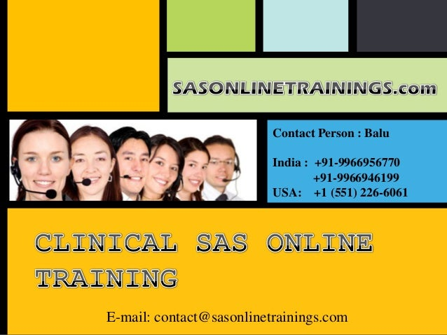 Clinical sas training overview