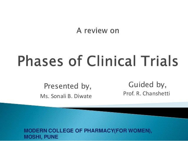 Introduction to Clinical trial