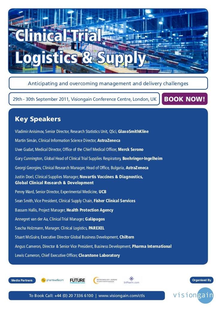 Clinical Trial Logistics & Supply (2011) Fb