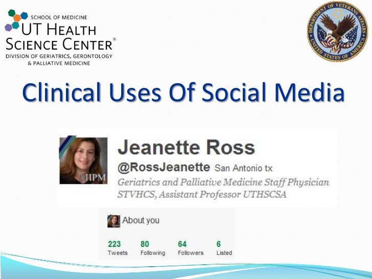 Clinical uses of social media